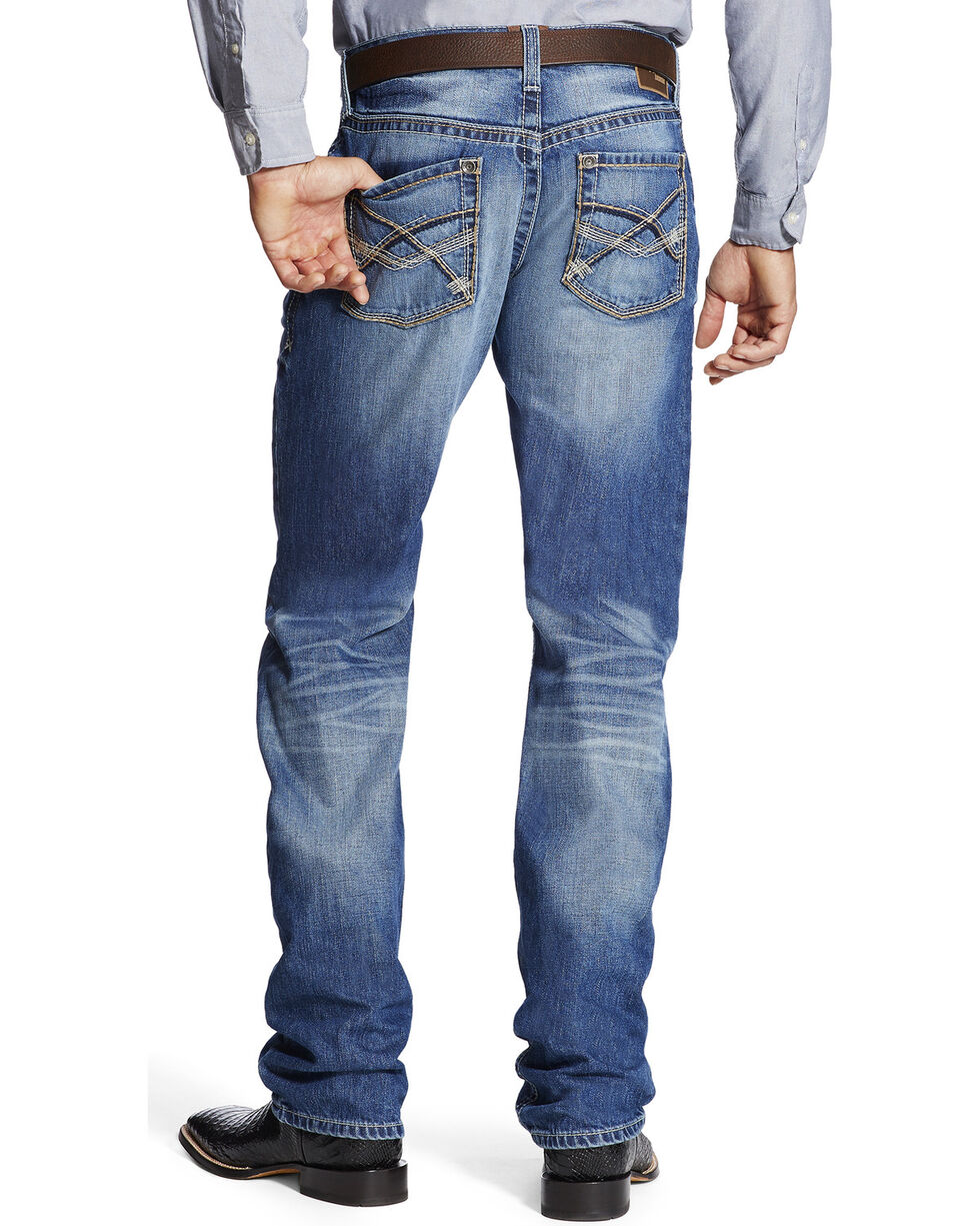 Ariat Men's M2 Outland Midway Relaxed Jeans - Boot Cut , Indigo, hi-res