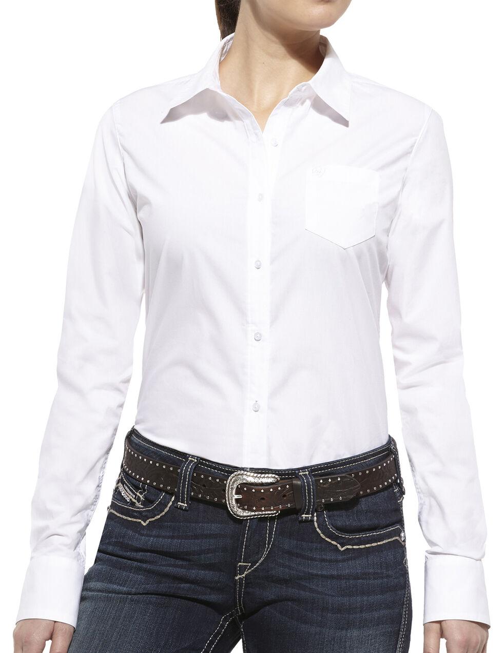 Ariat Women's Kirby Long Sleeve Shirt, White, hi-res