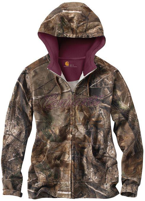 Carhartt Camo Zip Front Sweatshirt, Camouflage, hi-res