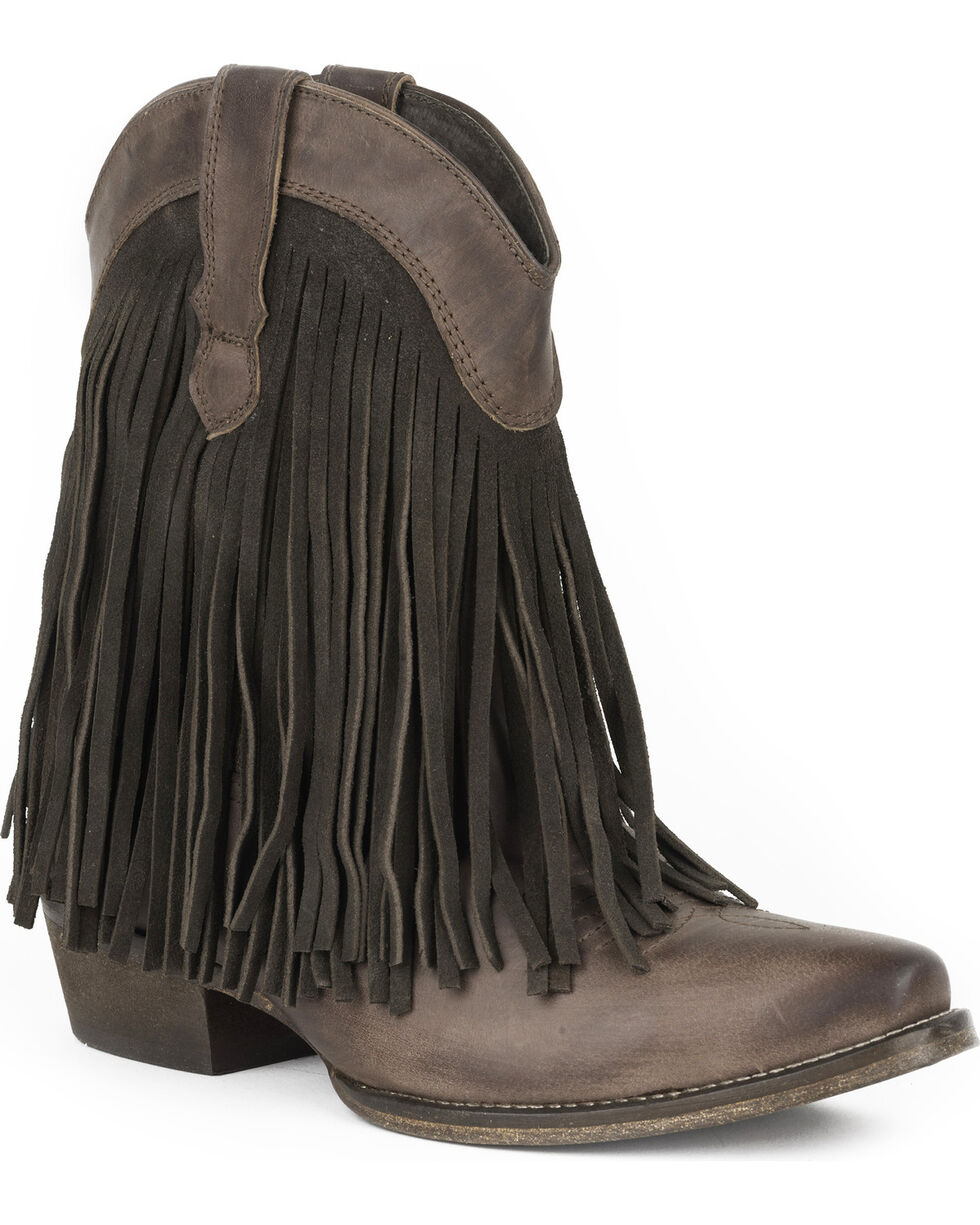 Roper Women's Brown Dylan Western Boots - Snip Toe , Brown, hi-res