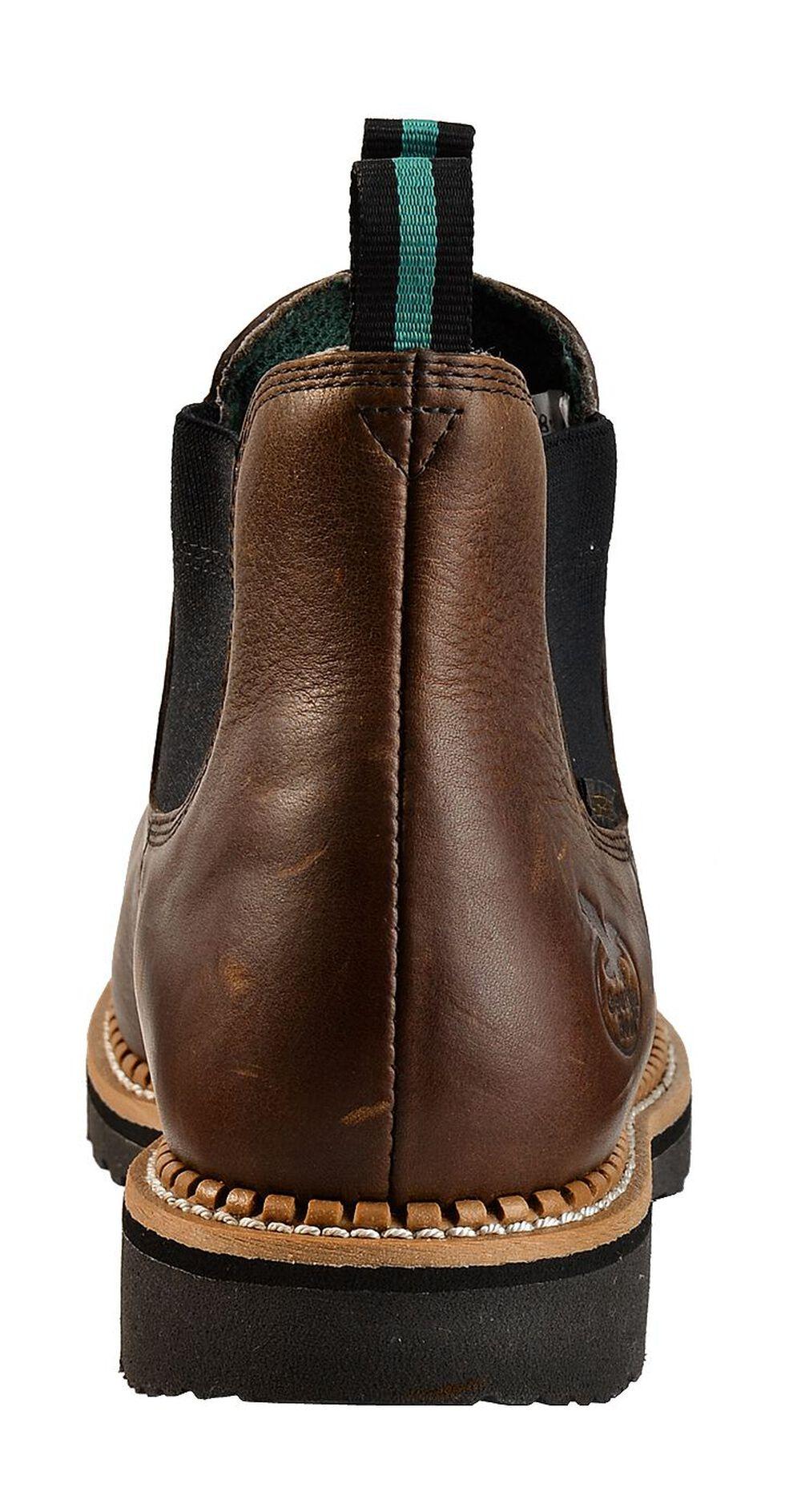 Georgia Boot Romeo Waterproof Slip-On Work Shoes - Steel Toe, Brown, hi-res