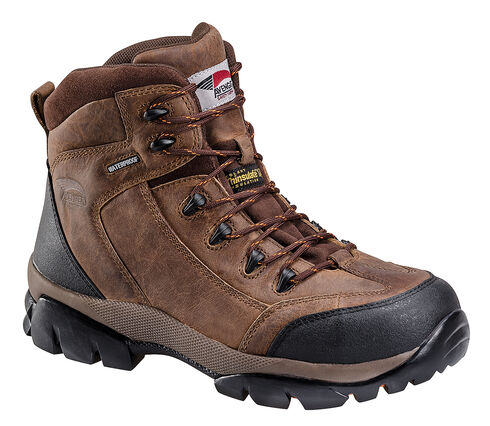 Avenger Boots Men's Composite Toe Insulated Hiking Boots, Brown, hi-res