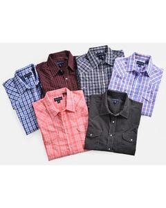 Panhandle Men's Grey Snap Down Western Shirt , Multi, hi-res