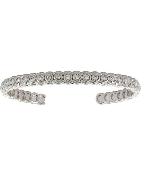 Montana Silversmiths Women's Brilliant Horseshoe Cuff Bracelet , Silver, hi-res