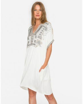 Johnny Was Women's Natural Bullio Challis Tunic , Natural, hi-res