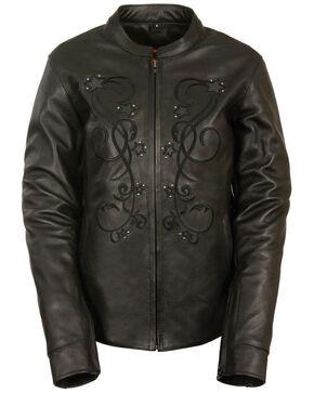 Milwaukee Leather Women's Reflective Star Jacket - 3X, Black, hi-res