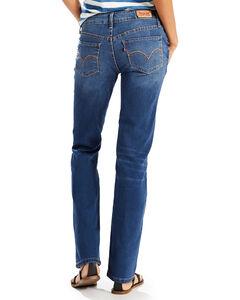 Levi's Women's 518 Low Rise Straight Leg Jeans, Midstone, hi-res