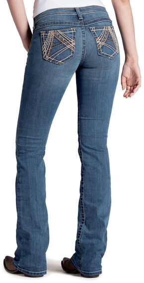 Ariat Women's Ruby Copper A Lonestar Bootcut Jeans, Denim, hi-res
