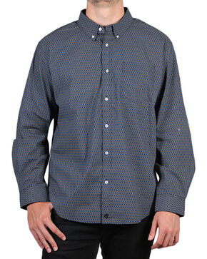 Cody James Men's Mountain Sky Long Sleeve Button Down Shirt - Big, Black, hi-res