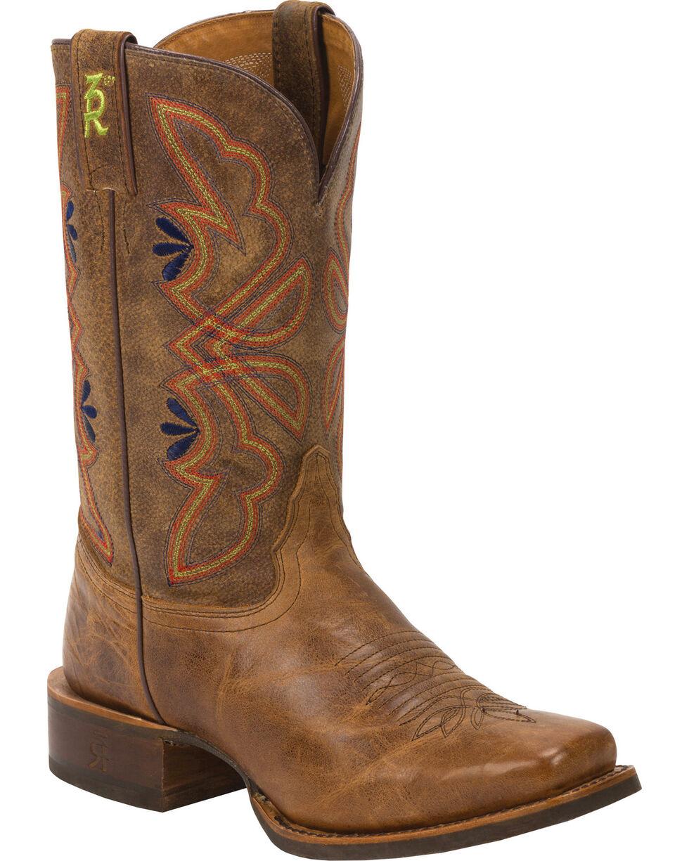 Tony Lama Honey Sierra 3R Stockman Cowgirl Boots - Square Toe, Honey, hi-res