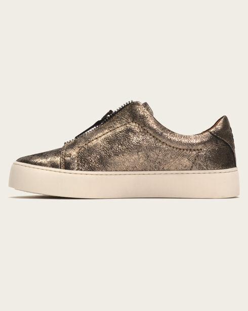 Frye Women's Gunmetal Lena Zip Low Shoes , Dark Grey, hi-res