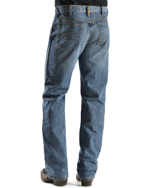 """Ariat Men's Heritage Denim Relaxed Fit Bootcut Jeans - 38"""" Inseam, Med Stone, hi-res"""