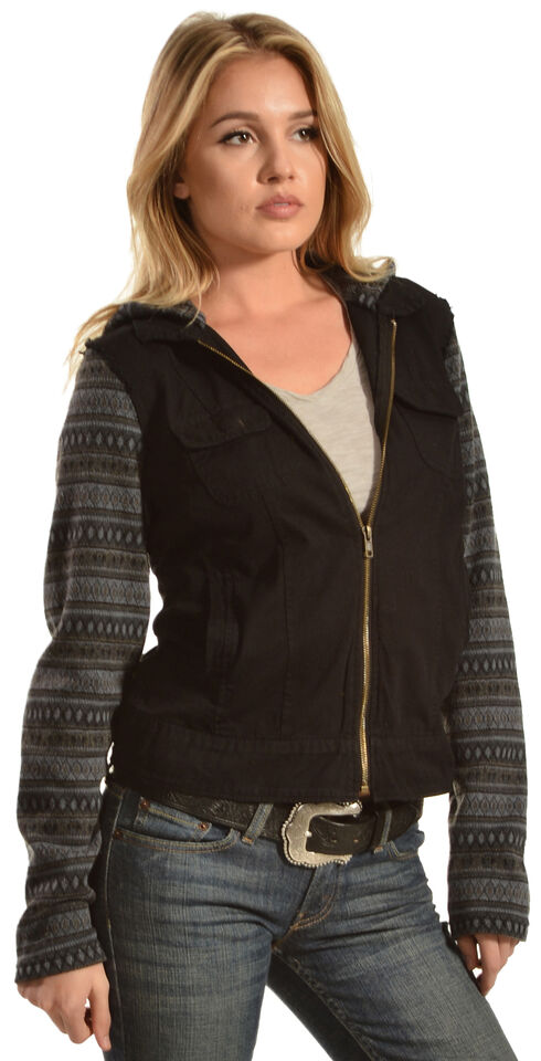 Others Follow Women's River Tribal Jacket, Black, hi-res