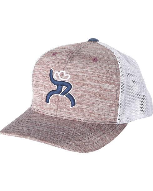 Hooey Men's Red Roughy Wrap Snapback Baseball Cap, Dark Red, hi-res