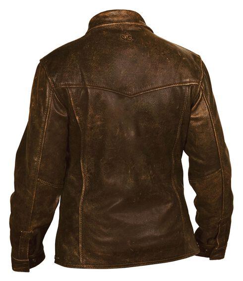 STS Ranchwear Men's Rifleman Brown Leather Jacket, Brown, hi-res
