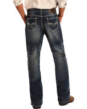 Rock & Roll Cowboy Men's Medium Vintage Wash Double Barrel Jeans - Straight Leg, Indigo, hi-res