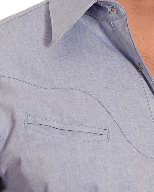 Schaefer Outfitter Men's Blue Vintage Chisholm Chambray Shirt , Light Blue, hi-res