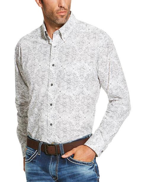 Ariat Men's Grey Fireman Print Long Sleeve Shirt, Grey, hi-res