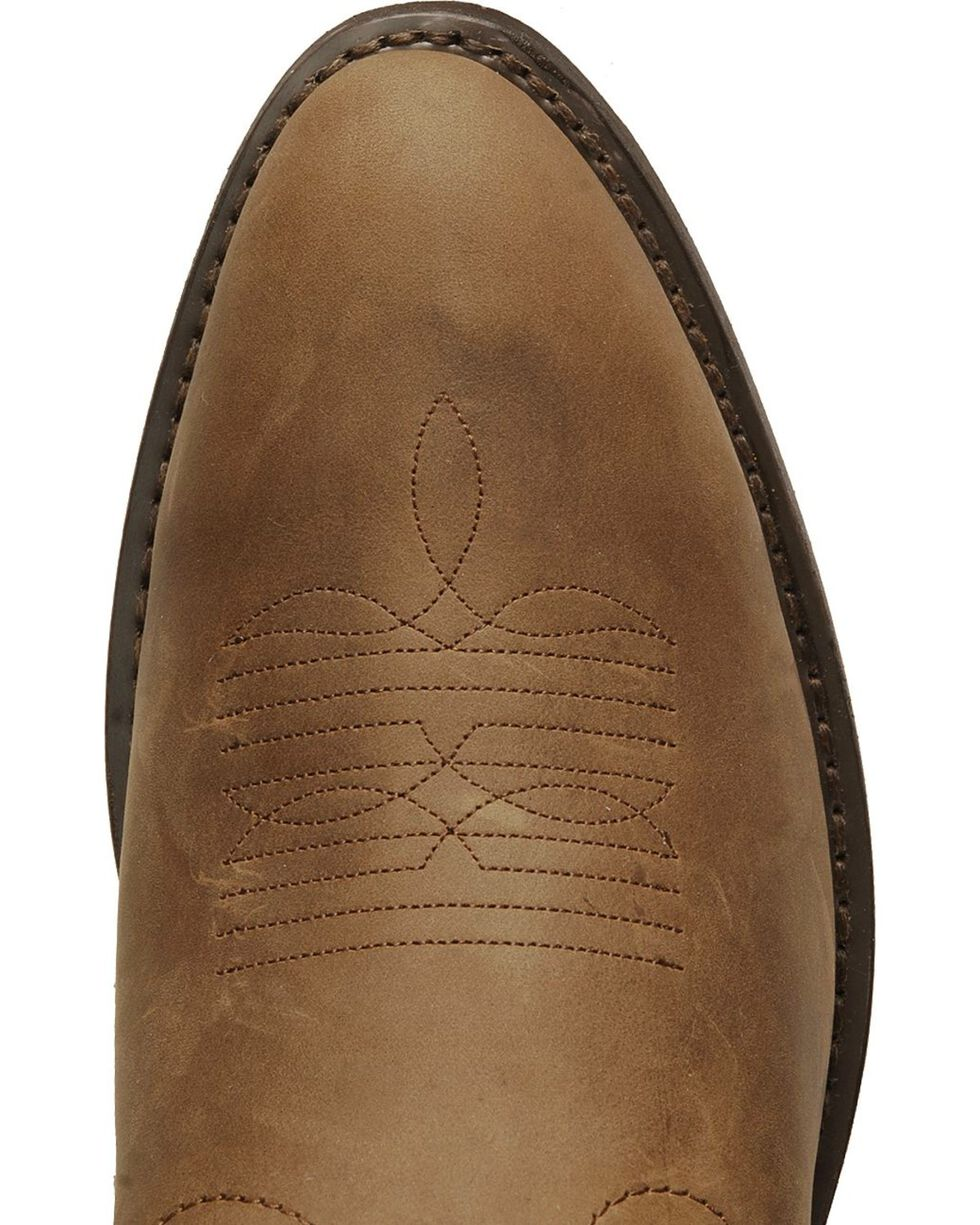 Laredo Basic Cowboy Boots, Tan Distressed, hi-res