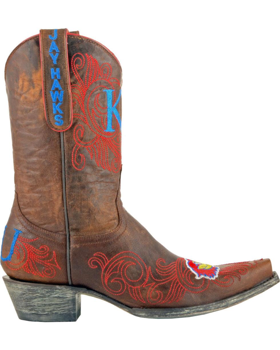 Gameday Boots Women's University of Kansas Western Boots - Snip Toe, Brass, hi-res
