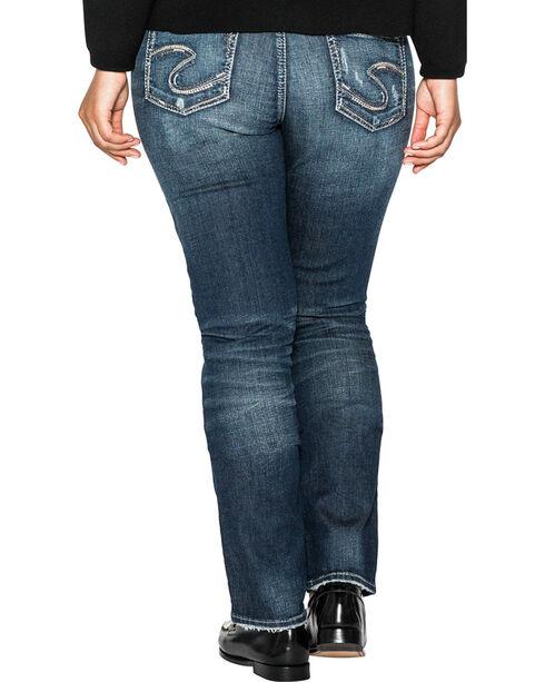 Silver Women's Indigo Curvy Fit Elyse Straight Jeans - Plus Size , Indigo, hi-res