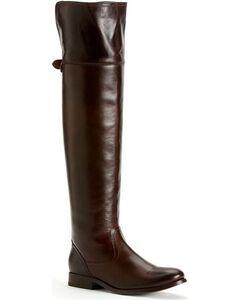 Frye Women's Melissa OTK Riding Boots - Round Toe, Dark Brown, hi-res