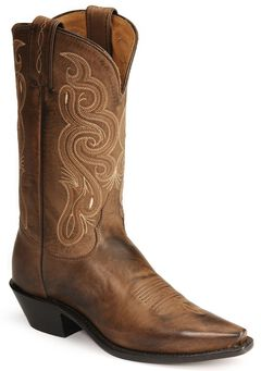 Tony Lama Stallion Leather Americana Cowboy Boots, , hi-res