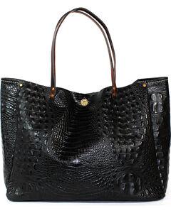 SouthLife Supply Women's Black Croc Medium Bucket Bag, Black, hi-res