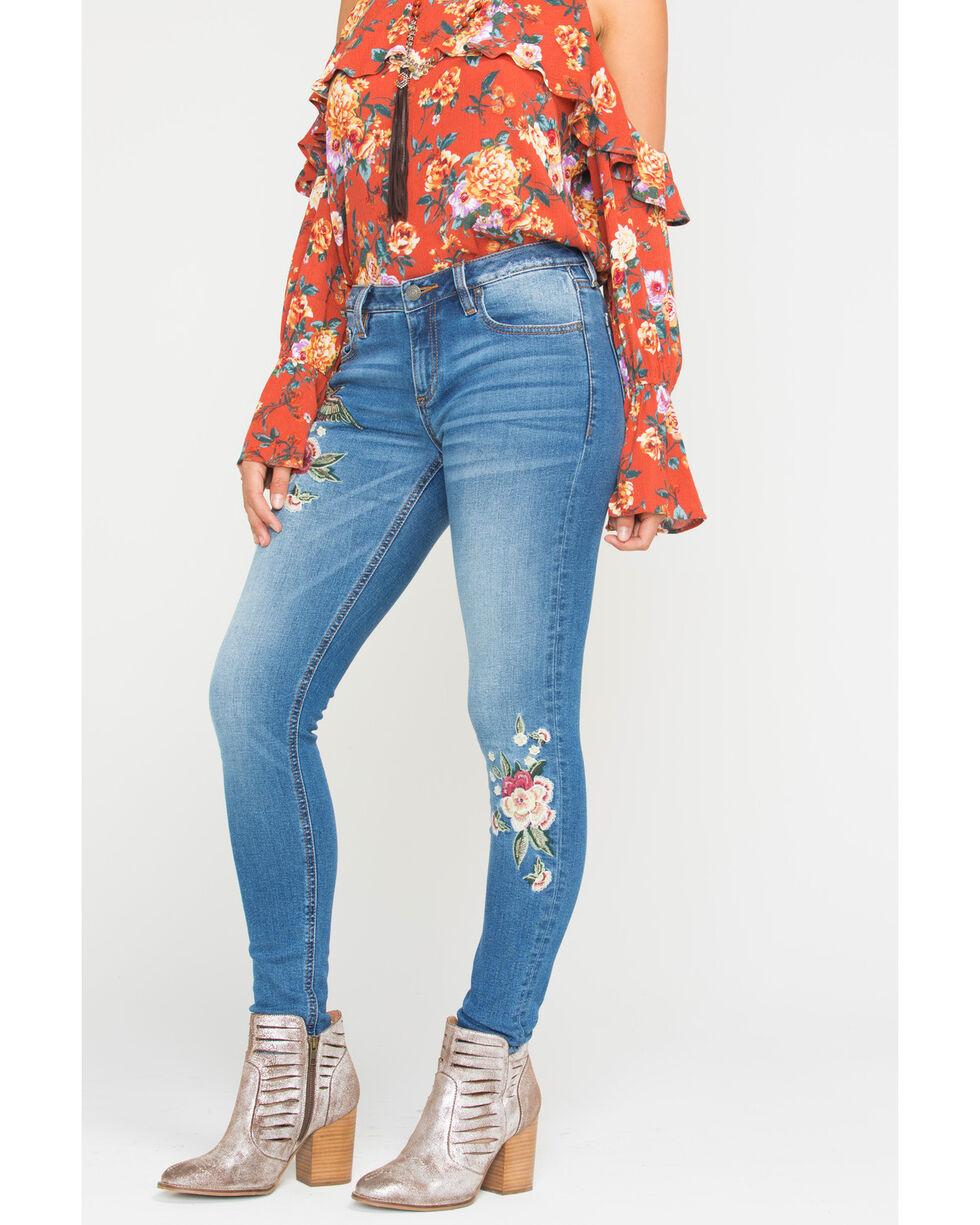 Miss Me Women's Freshly Picked Mid-Rise Skinny Jeans , Indigo, hi-res