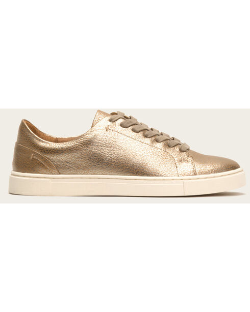 Frye Women's Gold Ivy Low Lace Shoes - Round Toe , Gold, hi-res