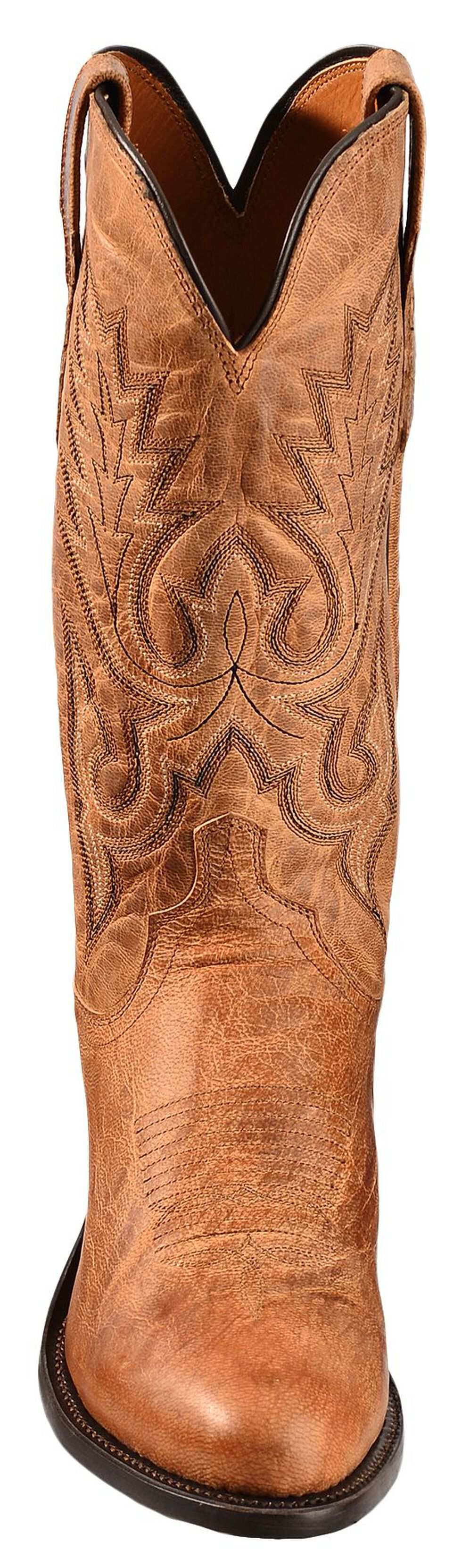 Lucchese Handmade 1883 Tan Mad Dog Goatskin Cowboy Boots - Round Toe, Tan, hi-res