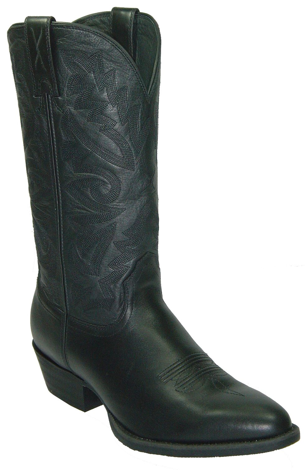 Twisted X Western Cowboy Boots - Round Toe, Black, hi-res