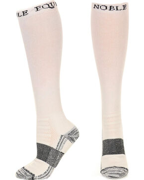 Noble Outfitters Equine Men's Over the Calf Best Dang Boot Socks, Black, hi-res