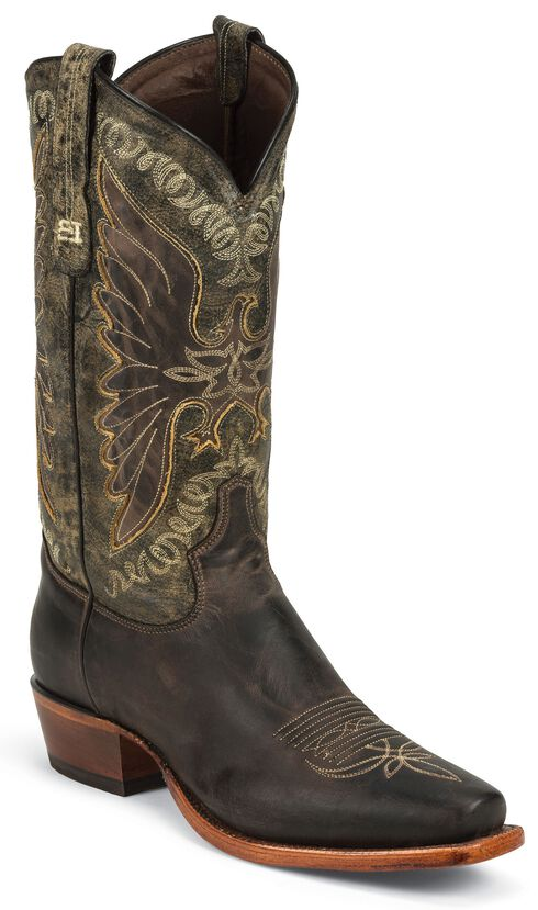 Tony Lama Black Label Century Cowboy Boots - Square Toe, Brown, hi-res
