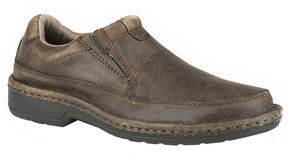 Roper Men's Powerhouse Slip-On Shoes, Brown, hi-res