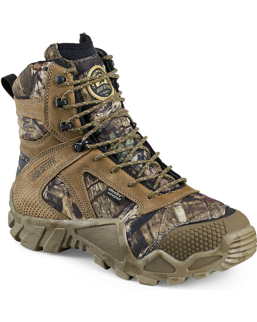 """Irish Setter by Red Wing Shoes Men's Vaprtrek Insulated Waterproof 8"""" Hunting Boots , Camouflage, hi-res"""