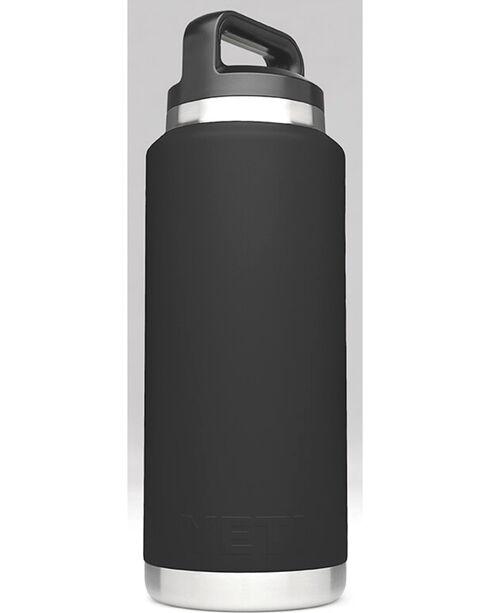 Yeti Black 36 oz. Bottle Rambler , Black, hi-res