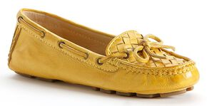 Frye Women's Reagan Woven Shoes - Round Toe, Yellow, hi-res