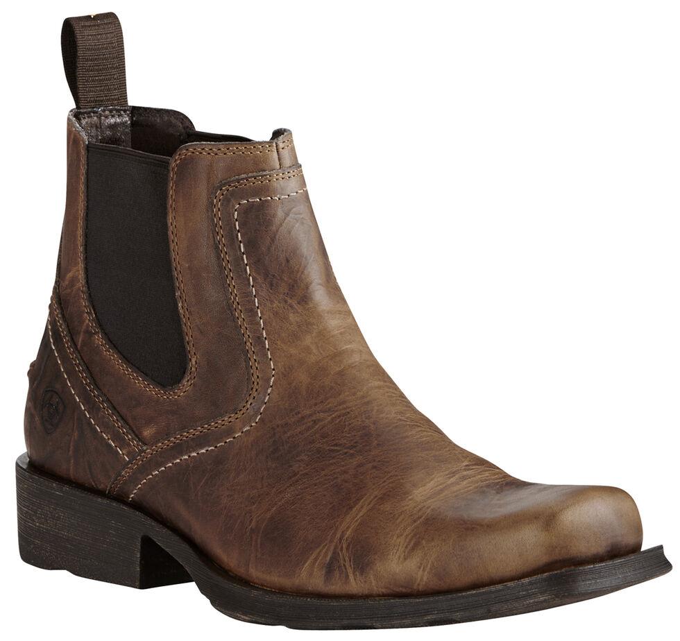 Ariat Men's Brown Midtown Rambler Boots - Square Toe, Light Brown, hi-res