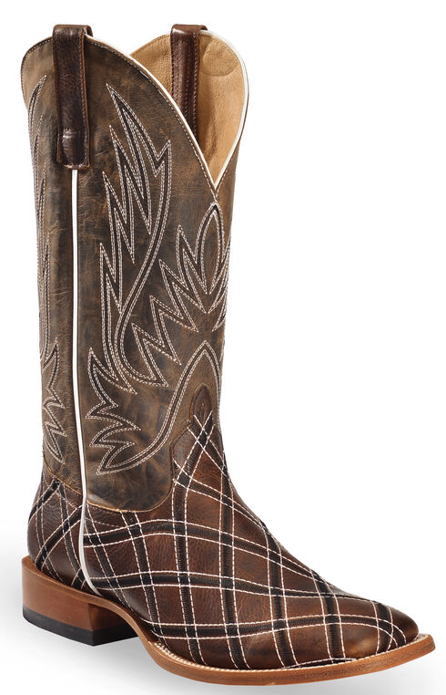 Horse Power Men's Sabotage Western Boots - Square Toe, Brown, hi-res