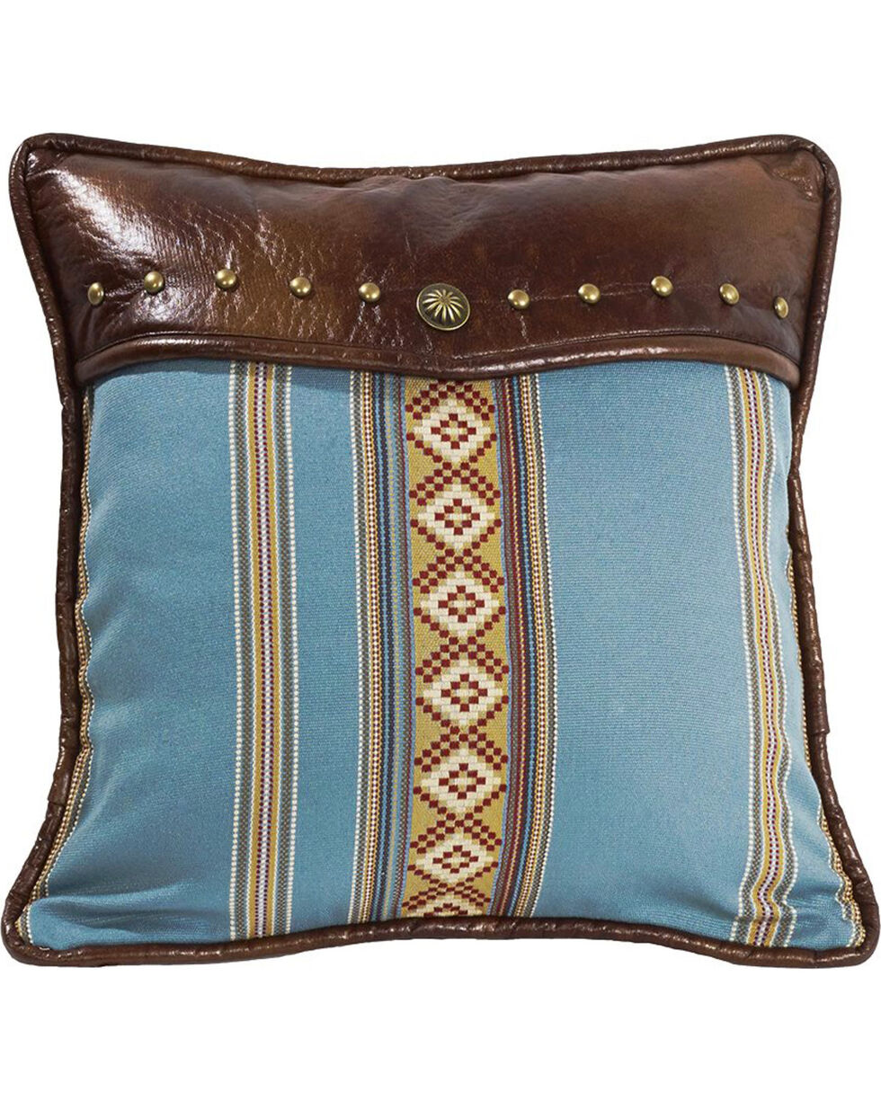 HiEnd Accents Ruidoso Blue Striped Throw Pillow, Multi, hi-res