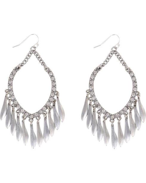 Shyanne Women's Rhinestone Chandelier Earrings, Silver, hi-res