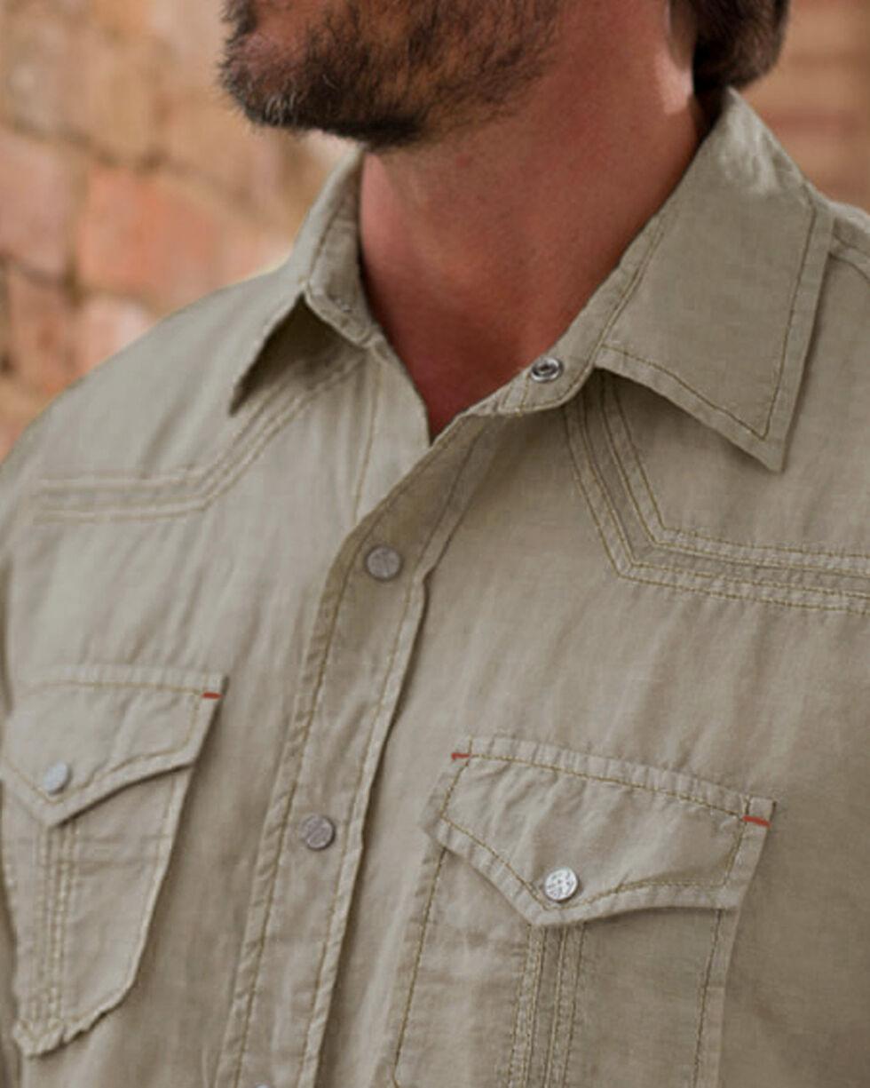Ryan Michael Men's Tan Split Rail Seam Shirt , , hi-res