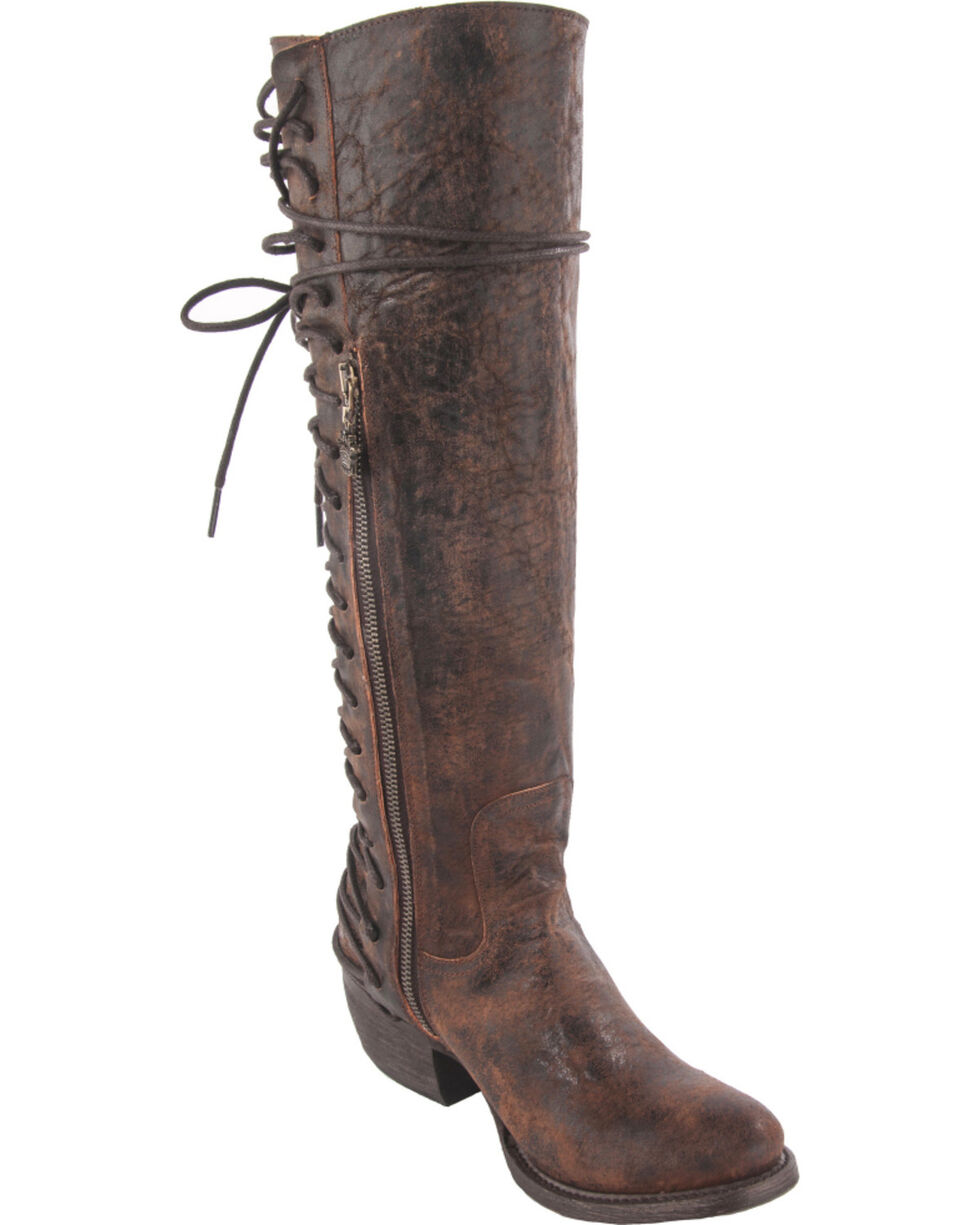 Junk Gypsy by Lane Women's Idlewild Tall Boots - Round Toe , Brown, hi-res