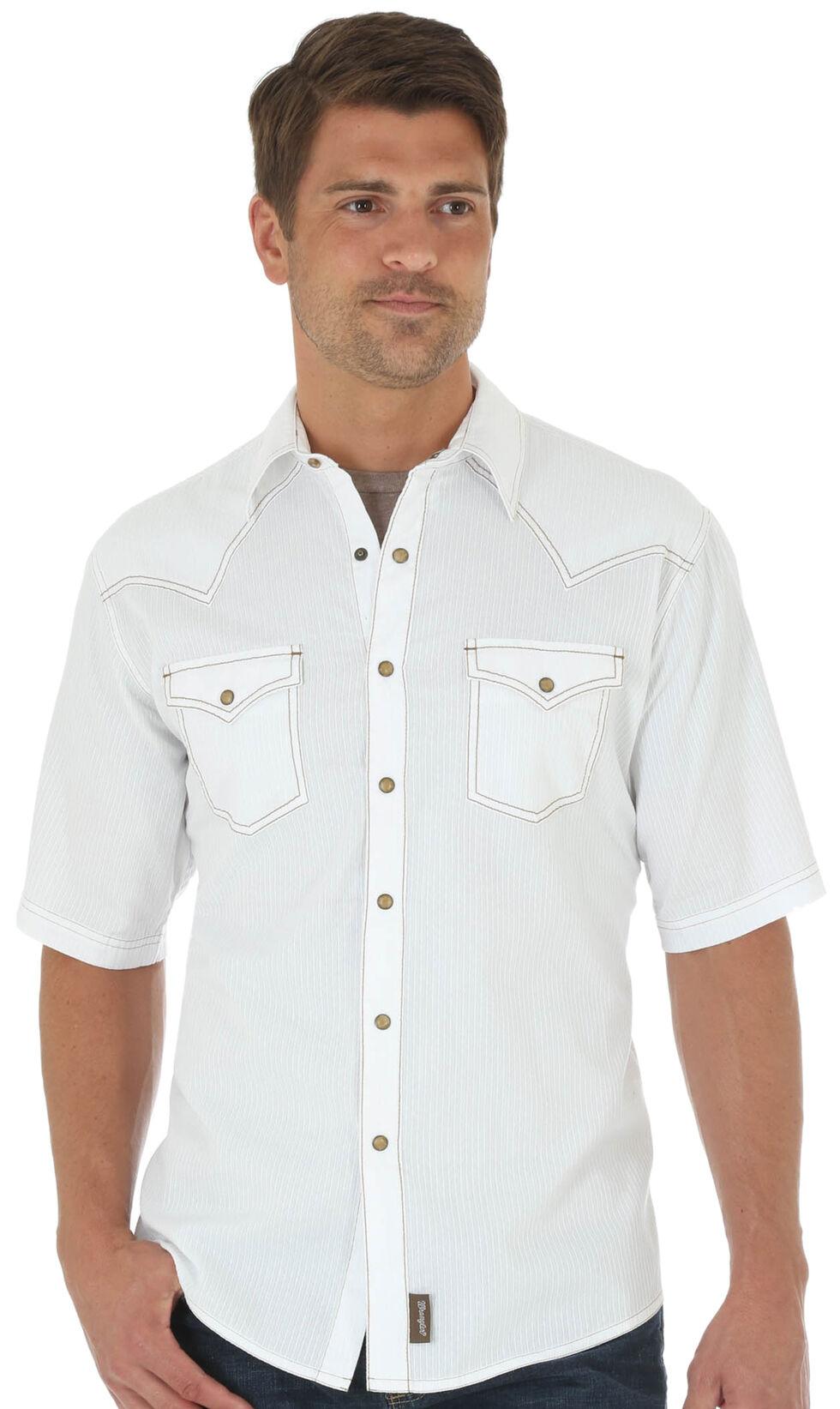 Wrangler Retro Men's Whiter Two Pockets Short Sleeve Shirt , White, hi-res