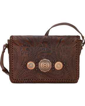 American West Women's Lariat Love Crossbody Bag/Wallet, Chestnut, hi-res