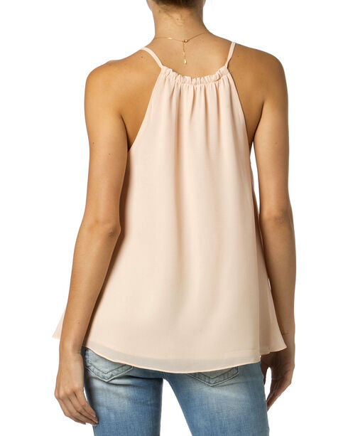 Miss Me Tied Halter Cami, Blush, hi-res