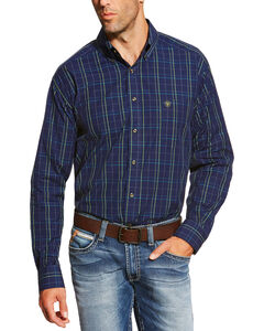 Ariat Men's Peacoat Navy Brennan Shirt, , hi-res