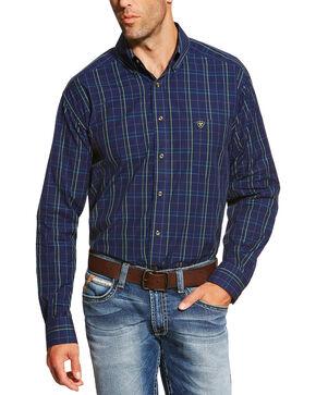 Ariat Men's Peacoat Navy Brennan Shirt, Navy, hi-res