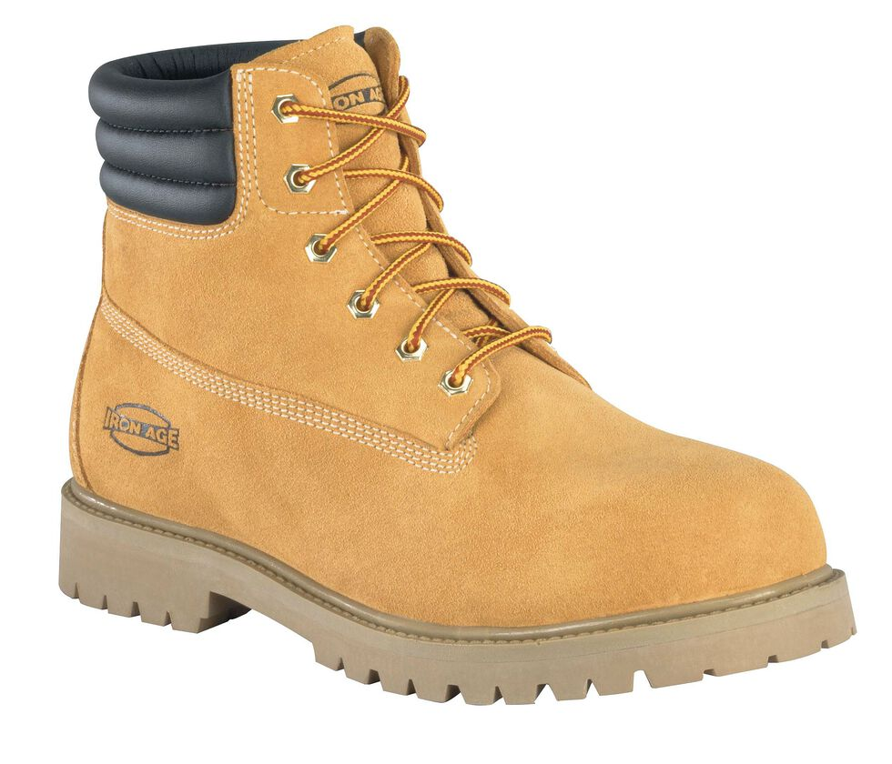 Iron Age Men's Steadfast Steel Toe Insulated Waterproof Work Boots, Wheat, hi-res